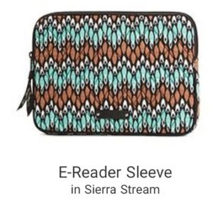 2/$20 Vera Bradley E-Reader Sleeve Sierra Stream